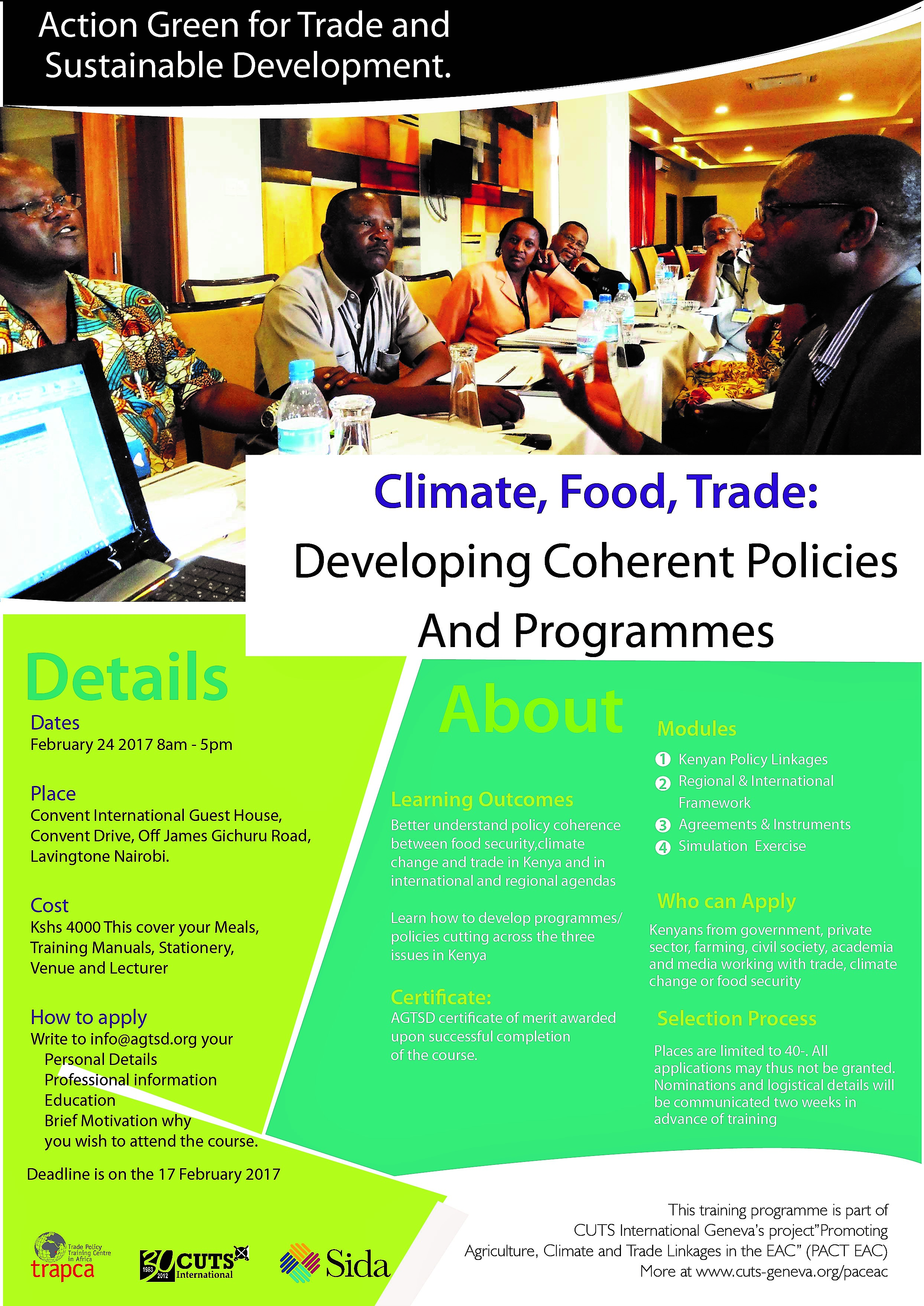 training-on-climate-food-and-trade-developing-coherence-policies-and-programmes-in-east-africa-community